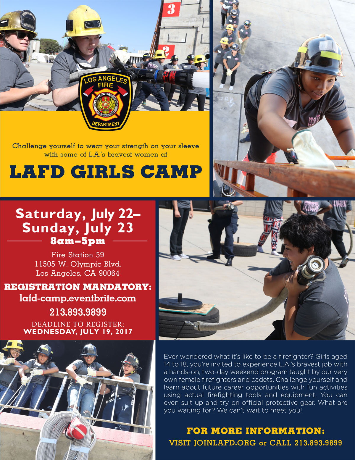 LAFD Girls Camp Flier